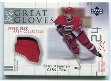 2001-02 UD Mask Collection Great Gloves Sami Kapanen Game-Used Glove