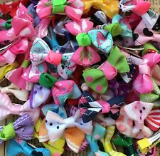 100pcs/lot Dog Small Pet cat bow Grooming Bowknot Lot Hair Clip bows for dogs