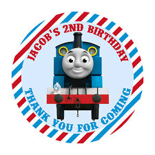 Personalised Thomas the Tank Engine 50mm Stickers Thank You Seal Tags Kids x15