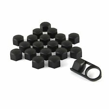 Set 20 19mm Black Car Caps Bolts Covers Wheel Nuts For VW Transporter T5 T4