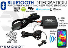PEUGEOT 307 2005 sur la musique en streaming mains libres bluetooth appels aux USB MP3 iPhone