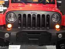 2007-2016 JEEP WRANGLER FRONT GRILL SATIN BLACK EMBLEM BADGE MOPAR 82213772