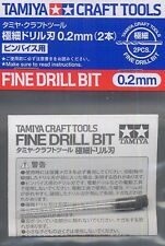 Tamiya #74090 Fine Drill Bit 0.2mm (2pcs) For Fine Pin Vises Craft Drill Tools