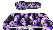 Purple Minions Sticker/Skin SKY HD BOX & Remote controller/controll sk24