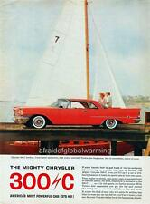 Old Print.  Red 1957 Chrysler 300-C Hardtop - auto