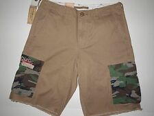 Denim & Supply Ralph Lauren men's cargo shorts size 31 USA UK flag patch NWT