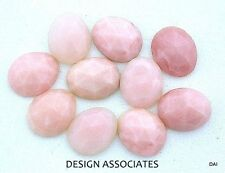 10X8  MM OVAL PERUVIAN PINK OPAL ROSE CUT CABOCHON ALL NATURAL GEMSTONE EACH
