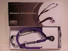 Prestige Medical Sprague Stethoscope 122 Purple Double Tubing 22 inch Latex Free
