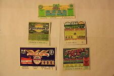 (5) Different OHIO 1976 Lottery Tickets ~ Vintage gaming