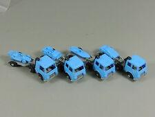 VOITURES: Transporter avec Semi-remorque EU 1987 - Ensemble complet bleu/argent