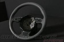 Audi A8 4H Leder Lenkrad Sport Multifunktion Schaltwippen stahlgrau  4H0419091AE