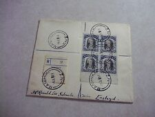 Tiny MANIHIKI COOK ISLANDS REGISTERED Cover JAMES COOK STAMPS --  New Zealand