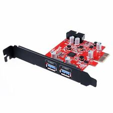 Inateck Mini 2-Port PCI-E USB 3.0 Express Card Cord-free Power Supply Adapter