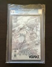 Wolverine Weapon X 1, CGC 9.8, 1:100 Kubert Sketch Variant