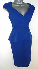 Paper Dolls Blue Peplum Dress BNWT