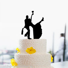 NEW Our stunning silhouette drinking Bride & Groom  Wedding cake Toppers