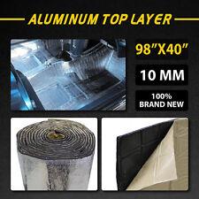 """10MM 98""""x40"""" Firewall Sound Deadener Car Heat Shield Insulation Deadening Mat"""