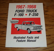1967 - 1968 Ford Truck Facts & Features Manual 67 68 F-100 F-250 Brochure