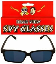 Rear View Spy Glasses - Blue Sunglasses - See Behind You! - Novelty Shades