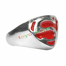 Acciaio inossidabile Superman Wedding Ring Comics regalo di compleanno