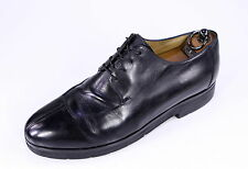 * BERLUTI *Black Leather Split Toe Lace-Up Oxford Shoes Rubber Sole +Trees US 10