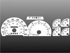 1999-2001 Ford Truck GAS Dash Cluster White Face Gauges 99-01