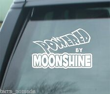 Powered By Moonshine, 4X4 Stickers, Decals, Jeep, Land Rover Off-Road, Funny