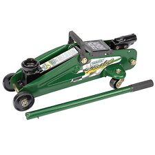 Draper Racing Green 2 Tonne/2000Kg Hydraulic Lifting Trolley Floor Jack 34723