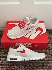 Nike SB Stefan Janoski Air Max Skateboard Trainers White & Red Uk 6