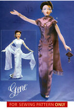 RETIRED SEWING PATTERN! MAKE GENE DOLL CLOTHES! EVENING DRESS~SHAWL~SNOOD~GLOVES