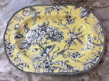 Adelaide Yellow Large Oval Serving Platter. Beautiful. 222 Fifth Porcelain. New.