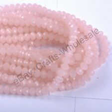 100Pcs Top Quality Czech Crystal Faceted Rondelle Spacer Beads 4MM 6MM Wholesale