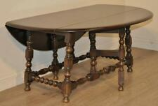 Attractive Vintage Elm English Ercol Gate Leg Extending Dining Coffee Table