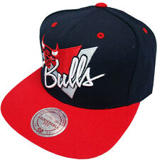 Mitchell & Ness Chicago Bulls Snapback Cap Casquette NY99Z Triangle écriture