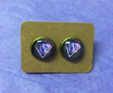 Retro Funky Diamond Star Galaxy Cosmic Kitsch Quirky studs earrings