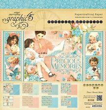 """Gráfico de nuevo 45 12"""" X 12"""" Cojín de papel preciosos recuerdos"""