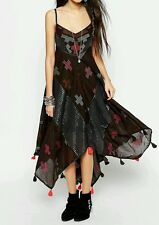 FREE PEOPLE crossing paths dress XS 6/8 uk bohemian spell boho gypsy hippie