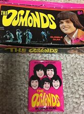 The Osmonds-Rare-Original 1973 Music (1) Unopened Wax pack of cards-Donny- Marie