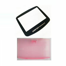 New PINK Game Boy Advance Battery Cover + New Screen Lens GBA Replacement