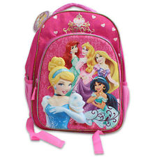 "DISNEY PRINCESS School 16"" Eva Molded 3D Backpack Bag Jasmine Ariel Cinderella"