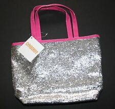 "New Gymboree Glitter Silver Purse Bag NWT 13""h x 8.5""w x 2.5""d Rainbow Cabana"