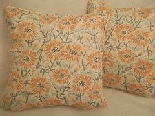 "DAISIES BY EMILY BURNINGHAM 1 PAIR OF 16"" CUSHION COVERS"