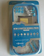 NEW Tomee Blue Wii U Starter kit System Silicone Sleeve Cover,Earphones,Stylus