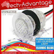 12V BLUE LED SUBMERSIBLE WATERPROOF LIVEWELL BAIT COURTESY BOAT STEP STAIR LIGHT