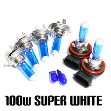 Audi A4 B7 2.0 100w Super White Xenon HID Main/Dip/Fog/Side Light Headlamp Bulbs