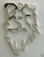 Border Collie Dog Head Charm Jewelry - .925 Sterling Silver - Animals & Insects
