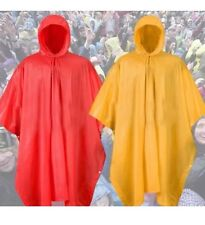 2X REUSABLE Heavy Duty  Waterproof PONCHO with Hood-Unisex Hooded Emergency