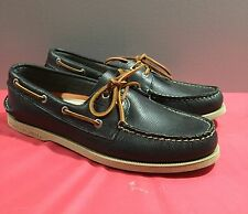 New Mens Sperry Leather Top-Sider Original Boat Shoes Sz9.5 Blue-Green Olive