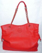 "TORY BURCH LARGE""OS MARION SLOUCHY TOTE"" MASAAI RED LEATHER**$595.**SPEC.SALE**"