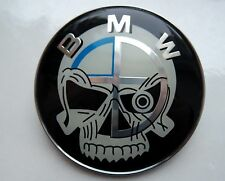 BMW skull logo rear trunk BADGE 1X 73mm for  E46,E82, M3   FREE SHIP WORLDVIDE